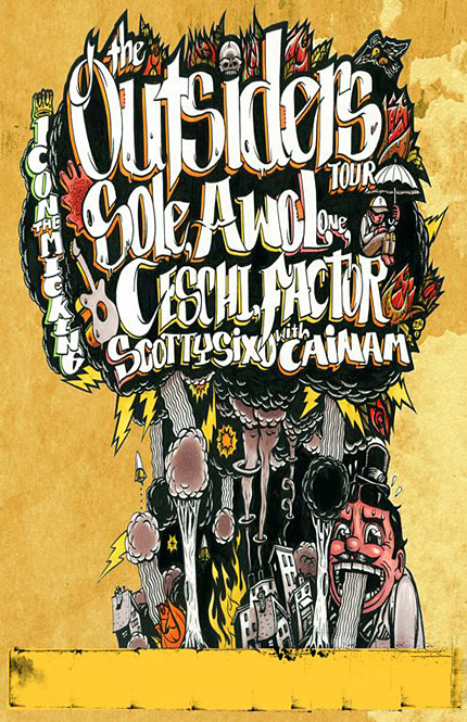 The Outsiders Tour with Sole, Awol One & Ceschi